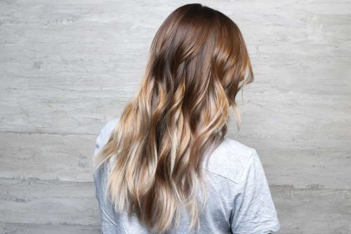 Balayage with subtle ombre and blow out curls
