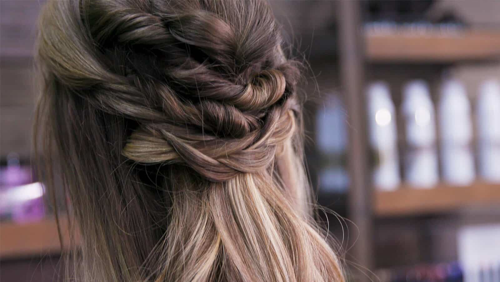 Complicated bronde braid by Elena Hansen