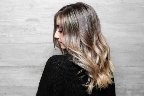 Full Highlights Balayage baby lights