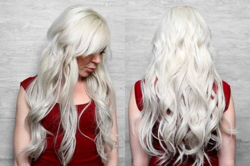 Ice blonde hair extensions from Sadie Jane Hair Co