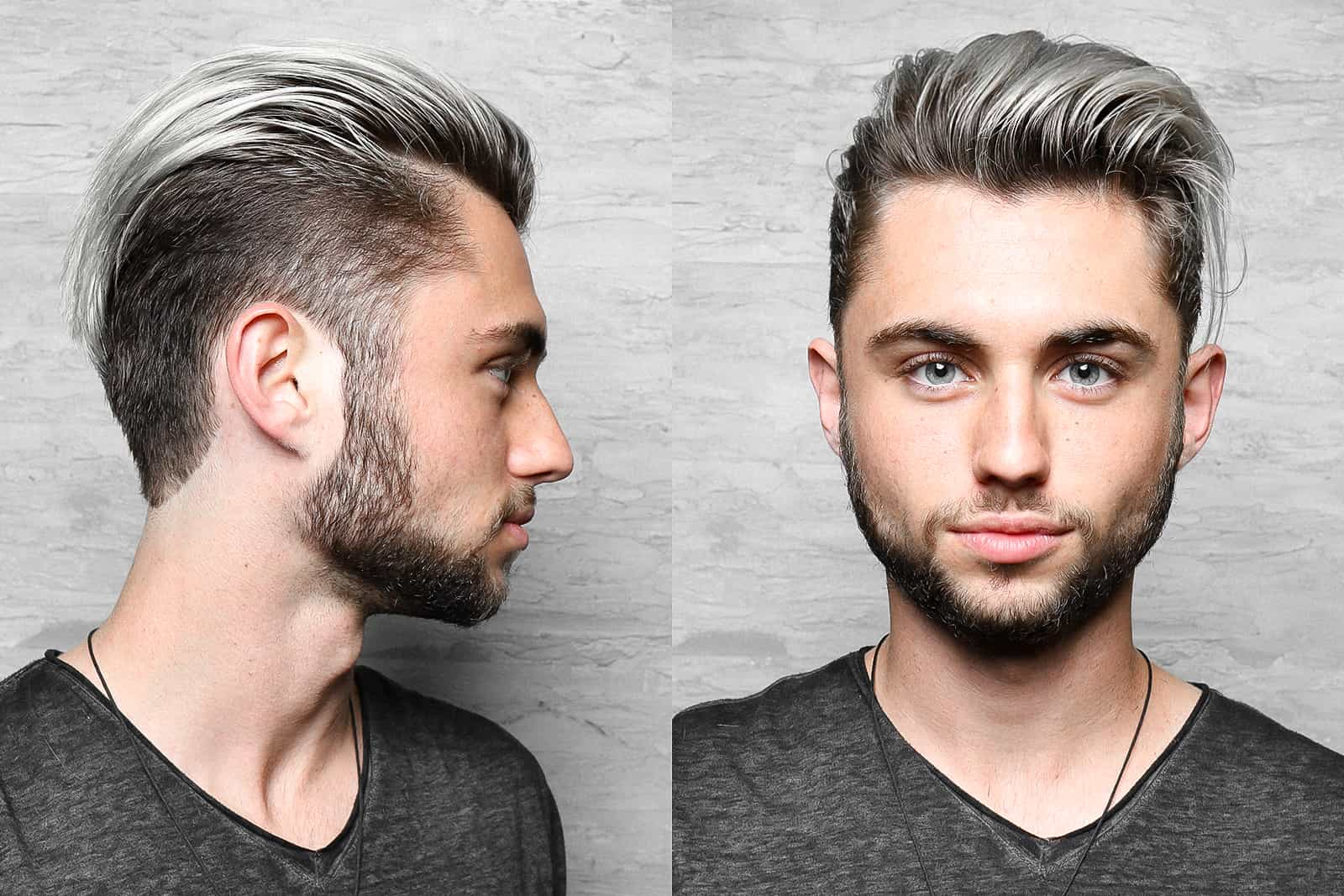 Men's Haircuts silver hair long on top