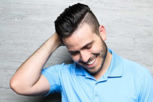 Men's Haircuts fade and hard part