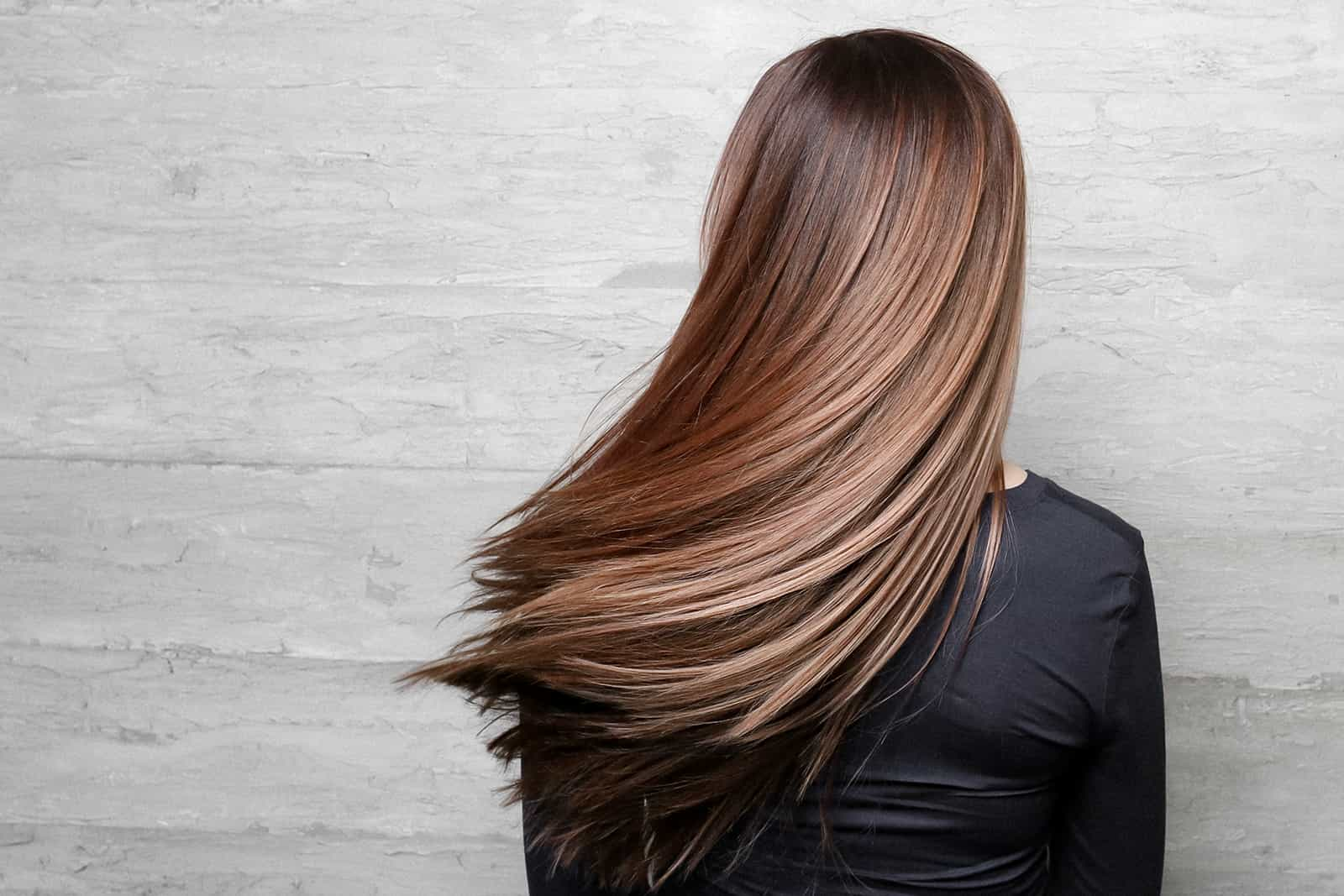Single color smooth blow out hair beige dimension