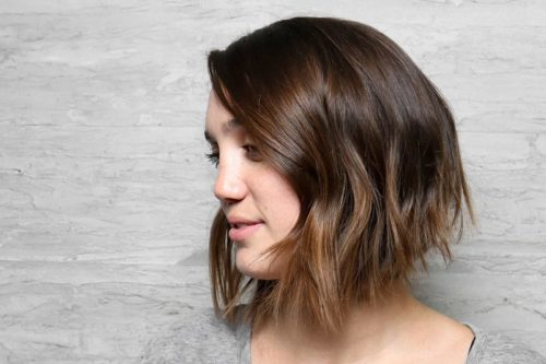 A-line women's haircuts brown