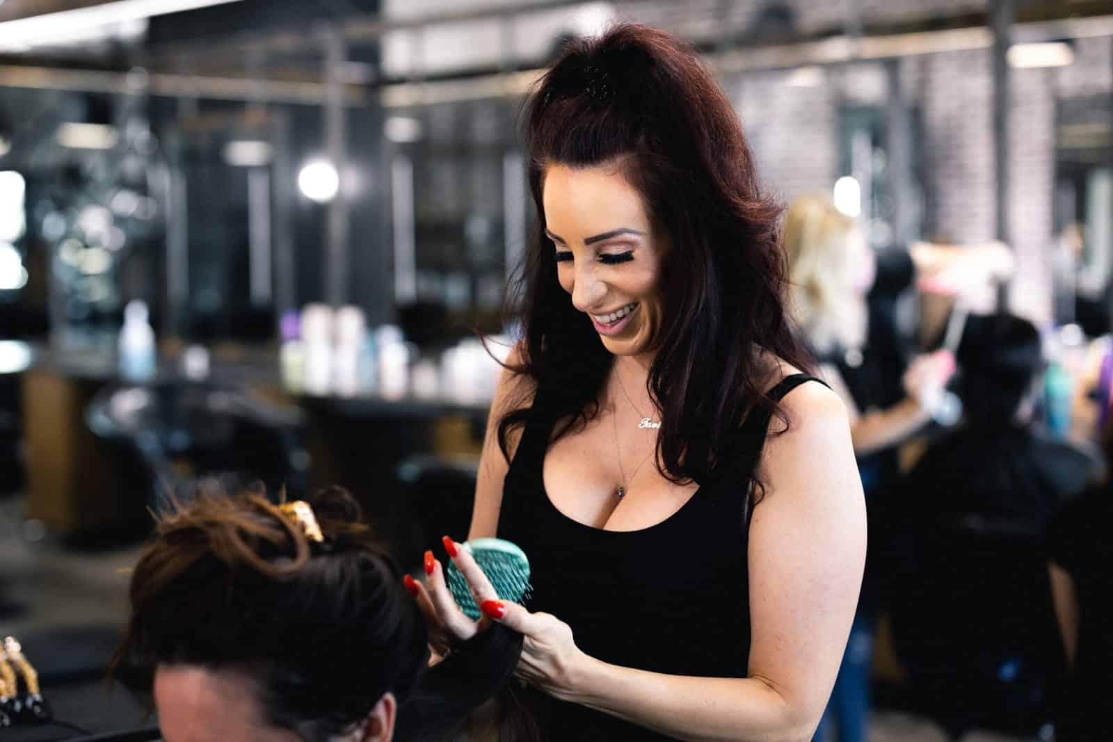 Hair stylist Amanda Stanley