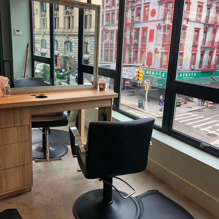 Suzanna's chair at Fox and Jane Salon in New York
