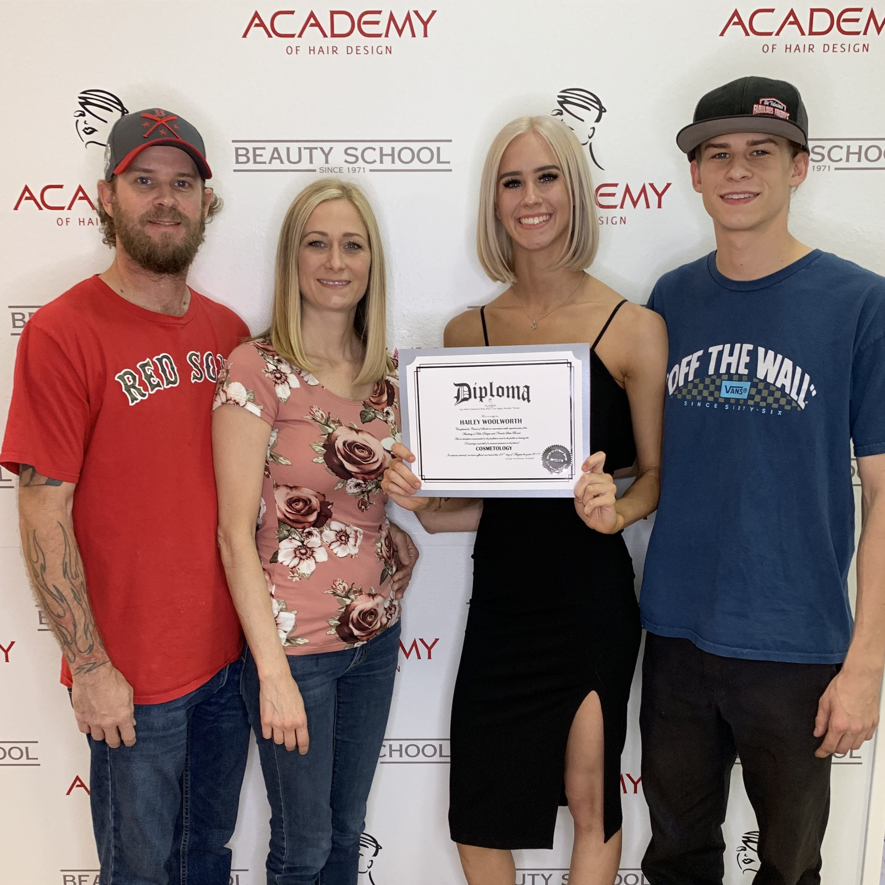 Hailey Woolworth The Hair Standard Las Vegas Cosmetology School Graduation