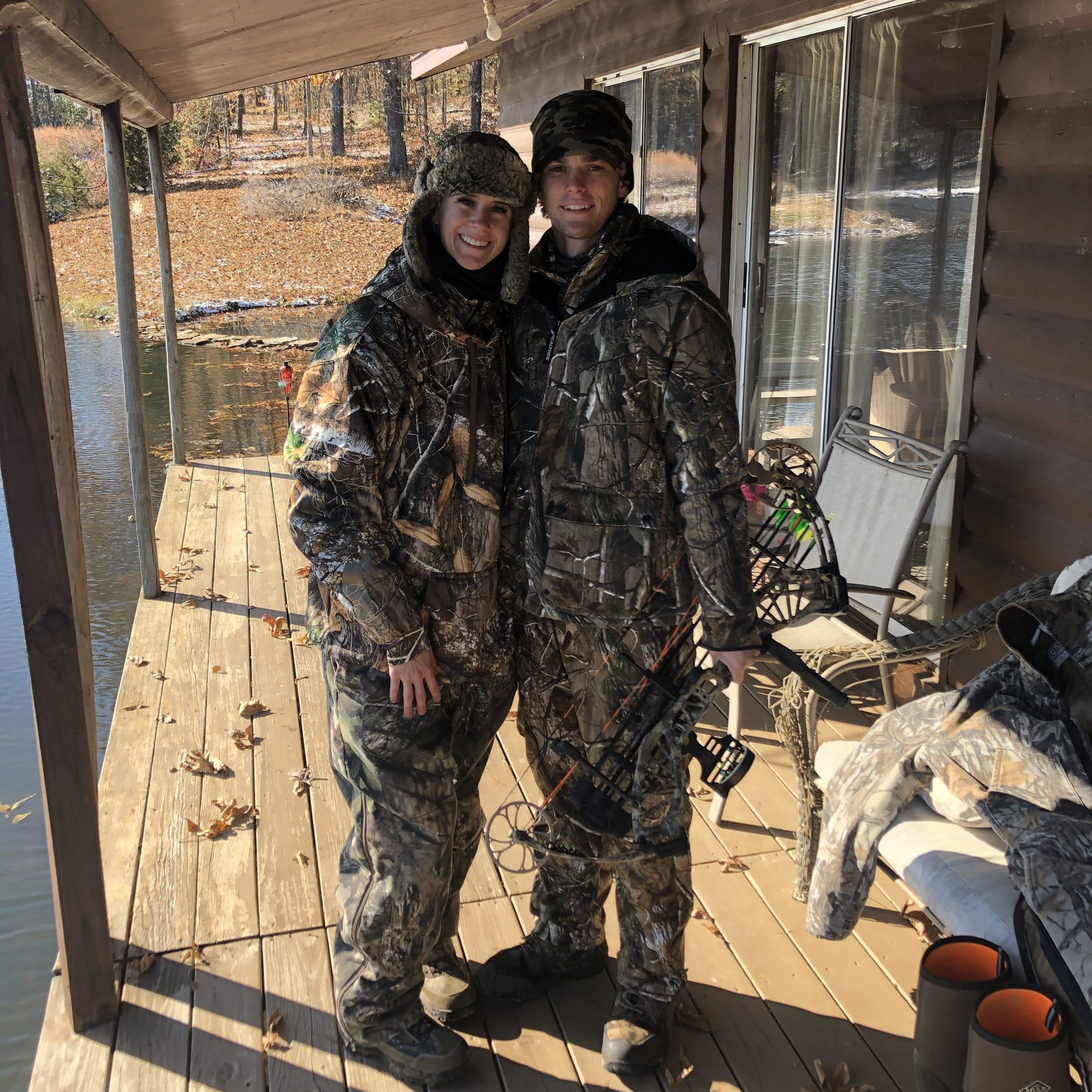 Hailey Woolworth The Hair Standard Las Vegas in camo hunting gear