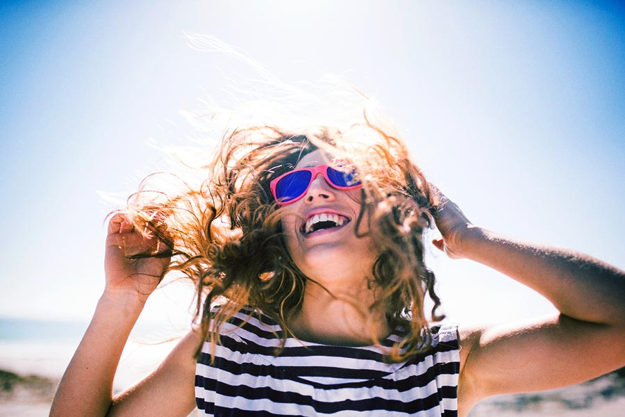 How to treat summer hair woman smiling