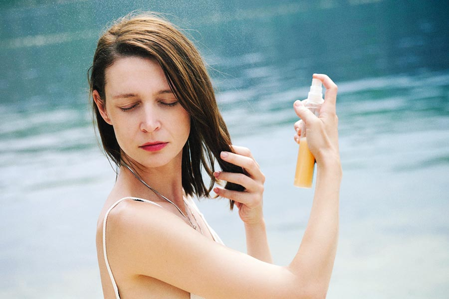 How to treat summer hair uv filter product
