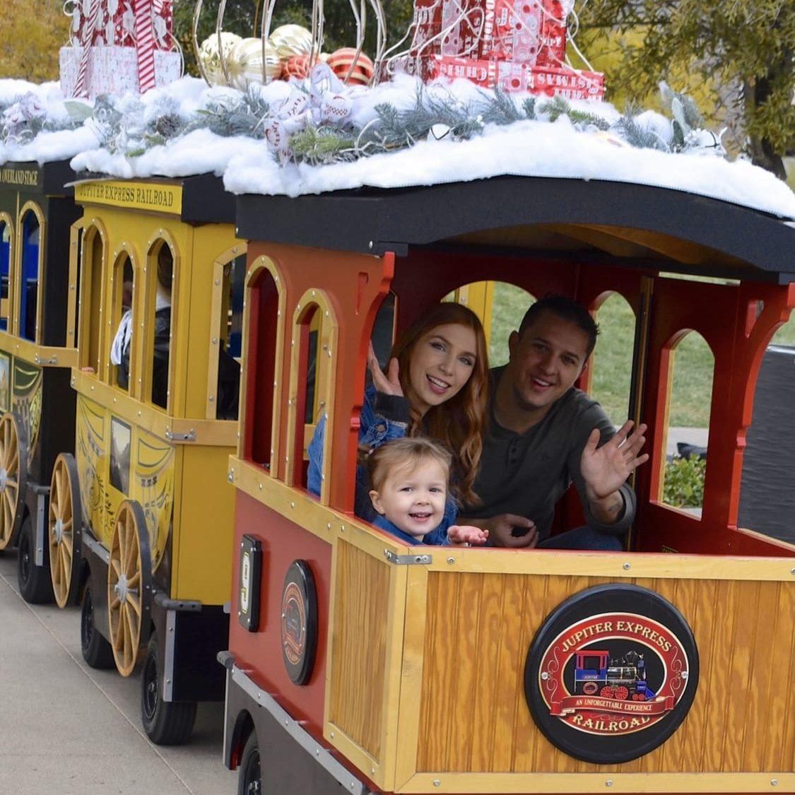 Kenzie Crowell The Hair Standard Las Vegas christmas train