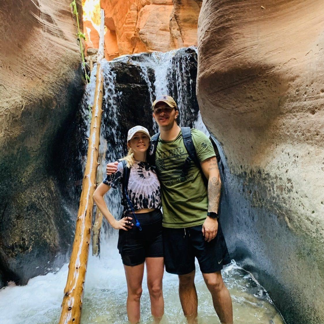 Kenzie Crowell The Hair Standard Las Vegas waterfall
