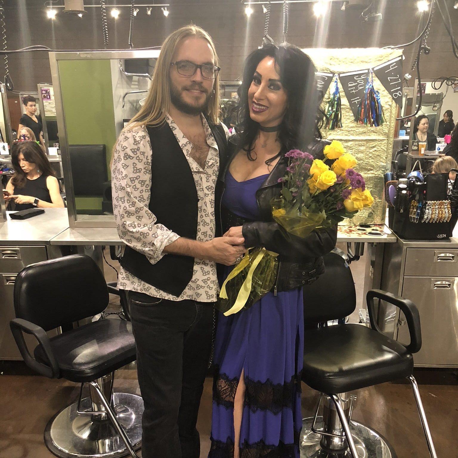 Amanda Stanely The Hair Standard Las Vegas hair school graduation