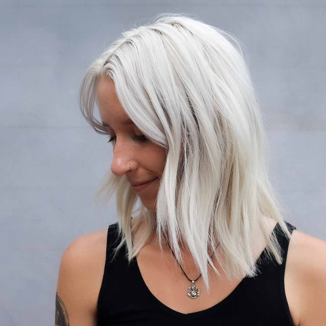 bleach retouch icy blonde