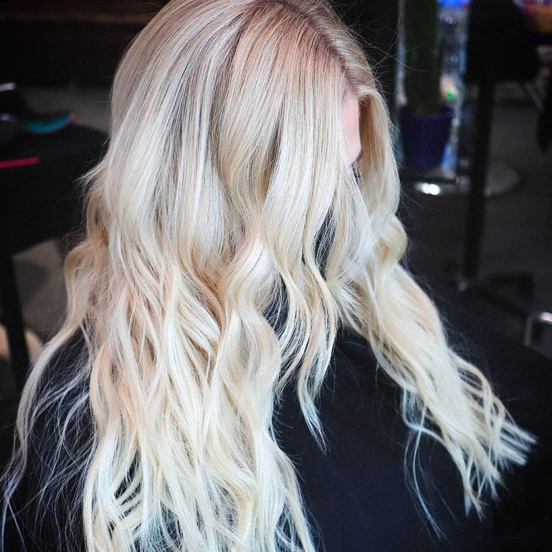 bleach retouch blonde curls